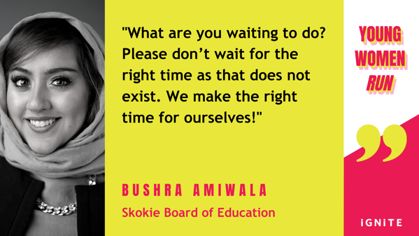 bushra amiwala quote for blog YWR Twitter Quotes 2021 Event