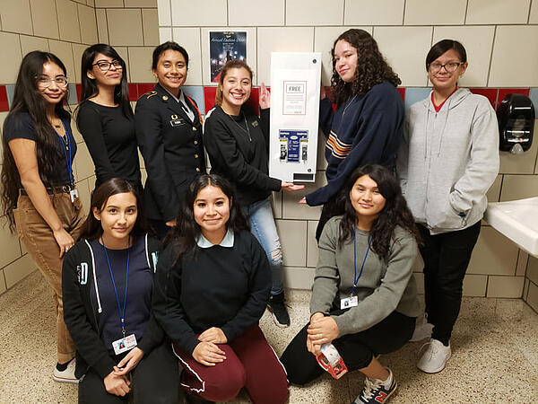 ignite students at skyline high school advocate for menstrual equity